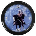 Native American Indian Warrior Wolf Spirit Wall Clock